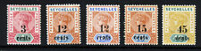 SEYCHELLES Queen Victoria 1893 Surcharged Part Set SG 15 to SG 20 MINT