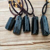 Rohe natürliche schwarze Turmalin Schorl Anhänger Chunk Reiki Super Chakra C7E0
