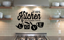 Kitchen Pot Cup Love Wall Stickers Art Dining Room Removable Decals DIY..