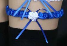 1 jarretière satin mariage  coloris bleu roi : LIVRABLE DE SUITE