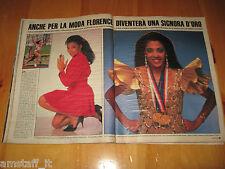 OGGI 1988/50=FLORENCE GRIFFITH=CLIPPING RITAGLIO FOTO PHOTO