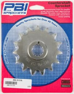 PBI - 496-15 -  Front Countershaft Sprocket, 15T - Made In USA