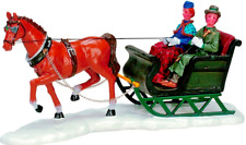 Lemax Christmas Village Scenic Sleighride Horse & Cart Table Accent #73633 Xmas