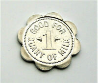 Enfield Dairy Coin Trade Token Good for 1 Quart of Milk 1950s Ellensburg, WA Unc