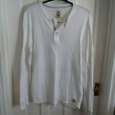 MENS NEXT WHITE LONG SLEEVED TOP SIZE XL
