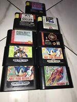 Sega Genesis 9 Game Sonic The Hedgehog Lot F22 Madden G Loc NBA Jam Hard Drivin