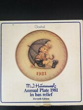Vhtf Goebel M.J. Hummel 1981 Annual plate collection Mint