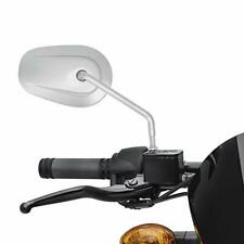 Motorcycle Rear View Side Mirrors Chrome Oval For Harley-Davidson Super Glide