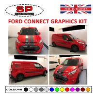 Ford Transit Connect Vinyl Graphics Kit Bonnet & Sides Racing Sport Decals 01