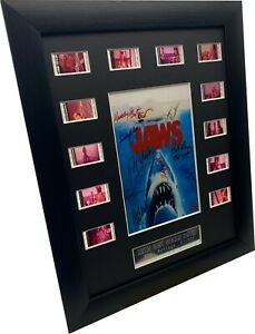 Collectable Signed Cast Jaws Movie Filmcell , movie shark prop
