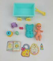 Vintage Barbie Baby Krissy Doll MLP Wagon Brush Bear Bottle Stacking Toy Mattel