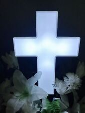 Eternal Light Cross Solar Lighted Cross for Cemetery and Grave Memorial