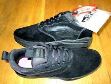 Vans Mens UltraRange Pro All Black Suede Skate shoes Size 10 VN0A3DOSBKA NWT