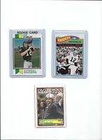 Ken Stabler Raiders Lot of (3) Different w/ 1973 Topps Rookie #487 EX BV$75.00