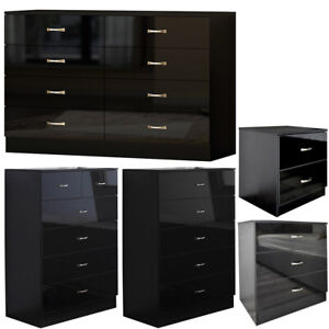 2/3/5/6/8 Drawer Chest of Drawers/ Bedside Cabinet - Classy Modern Bedroom Decor