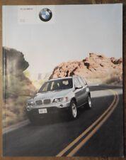 BMW X5 3.0i & 414i Orig 2000 2001 Reino Unido MKT 100 página folleto de ventas de prestigio