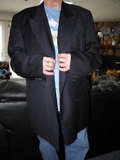 Men's Dark Blue Pinstripe Double Breasted Atelier Torino Sport Coat Blazer 50 XL