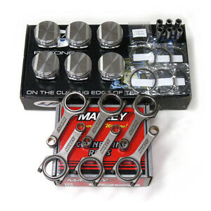 CP PISTONS MANLEY H-BEAM RODS FOR NISSAN VQ35DE 96.00mm 11.0:1 SC73381 350Z/G35