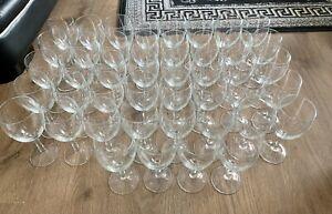 44x Wine/Liquor/Desert 250ml GLASS Kitchen Job Lot Bundle Pub Bar Party Wedding