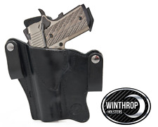 1911 5 inch barrel NO Lasergrips NO Rail IWB Dual Snap Holster LEFT Hand Black