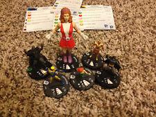 Heroclix 6 piece lot Worlds Finest 035 Elasti-Girl Booster Gold Robotman Batman
