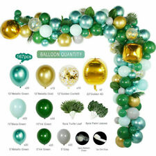 167Pcs Jungle Safari Green Balloon Arch Garland Kit Baby Birthday Party Decor