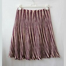 Knitted cotton skirt color cream violet