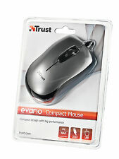 TRUST EVANO COMPACT USB ERGONOMIC OPTICAL MINI MOUSE FOR LEFT & RIGHT HANDED USE