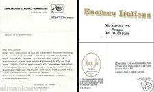 INVITO ENOTECA ITALIANA BOLOGNA ASSOCIAZIONE SOMMELIERS VINI FRIULANI 1984