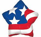 "Patriotic Balloons Puffy American Flag Star Balloon 21""  Veterans"