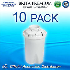 10 x FL601 Premium Water Filter Compatible with Brita Classic Jug Cartridge