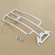 Chrome Solo Seat Luggage Rack For Harley Touring Road King FLHR FLHTC 1997-2020