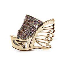Women's Wet look, Shiny Wedge Heel Sandals & Beach Shoes