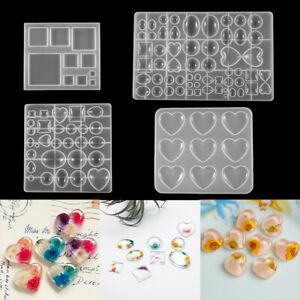 Silicone Mold for Jewelry Earring Pendant Making Tool UV Epoxy Resin Molds Craft