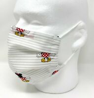 Minnie Face Mask - Nose Wire Filter Pocket Pleated US made - Filters Included