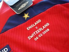 New Authentic Umbro 2008 England Beckham Jersey Switzerland manchester United