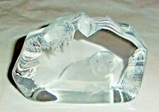 More details for mats jonasson seal paperweight - signed and numbered