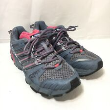 Adidas Response Trail 15 Womens 10 Gray Pink Lace Up Hiking Running Shoes