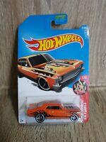 Hotwheels 68 Chevy Nova HW Flames 61/365 Orange Long Card 1 64 Scale Sealed