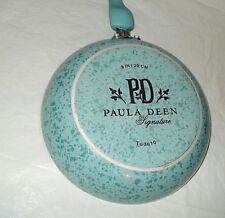 """New listing Paula Deen 8"""" Frying / Sauce Pan Aqua Speckles Pre Owned Free Shipping"""