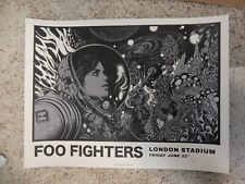 Foo Fighters London Stadium Poster A/P S/N #63/100 June 22 2018 Rickey Beckett