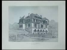 VILLA EN NORMANDIE - PLANCHE ARCHITECTURE 1910 - GILLON