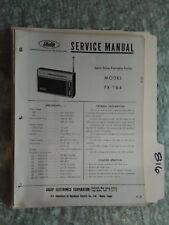 Sharp fx-164 service manual original repair book radio solid state
