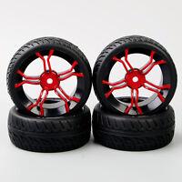 4Pcs RubberTyre&12mm Hex Wheel Rim MPNKR+PP0150 For HPI HSP 1:10 On-Road Car