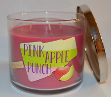 BATH & BODY WORKS PINK APPLE PUNCH POPTAIL SCENTED CANDLE 3 WICK 14.5 OZ LARGE
