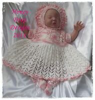 Honeydropdesigns * Blossom * PAPER KNITTING PATTERN * Reborn/Baby 0-6 Months