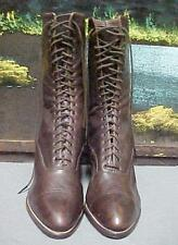 "Vintage Authentic Antique 1900-1919 ""Sweet Sally Lunn"" Lace-Up Boots Women's"