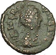 AELIA FLACILLA Ancient Roman Coin VICTORY Cult CHI-RHO Christ monogram  i40004