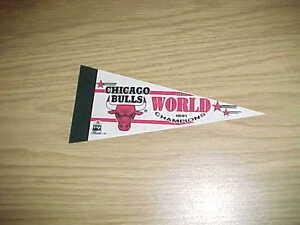 1991 Chicago Bulls World Champions Mini Basketball Pennant
