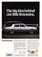 1981 Buick Century - 4-door Sedan - Classic Vintage Advertisement Ad D05
